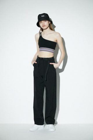 SW BELTED STRAIGHT PANTS